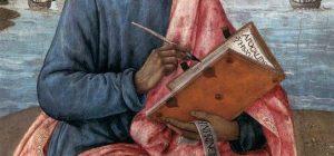 Photo de saint Jean écrivant - Détail